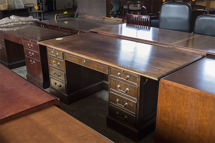 Solid Wood Double Pedestal Desk